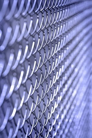 penitentiary: Chain Link Fence on Border Keeping People in and Out