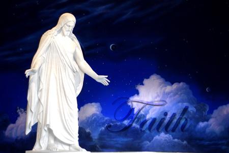 mano de dios: Estatua de Jesucristo con manos extendidos