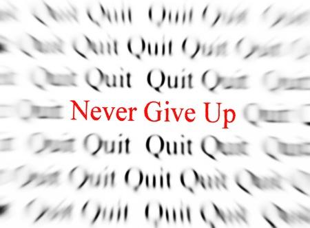 nunca: Primer plano detalle de las palabras en blanco y negro con la palabra rojo