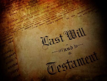 testament: Sobre la vendimia con el testamento Foto de archivo