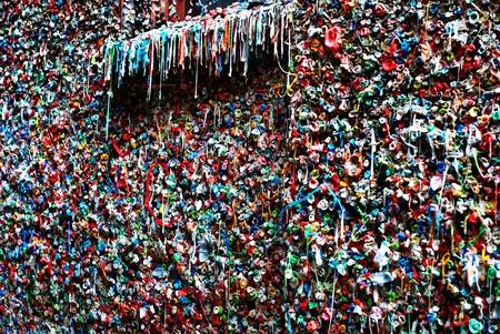 Seattle Washington famous gum wall detail Stockfoto