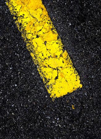 onward: Road with painted yellow line on black aspault