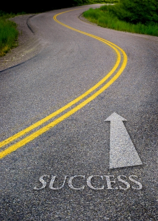 lines: Road to success with painted double yellow lines