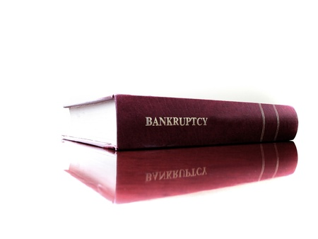 statutes: Close up of an old law book on bankruptcy