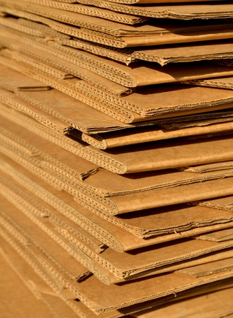 Stack of Cardboard for packing or recycling Stock Photo - 17317025