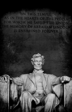 Statue of Abraham Lincoln at the Lincoln Memorial in Washington DC Stock Photo - 17337366