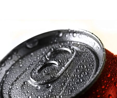 Closeup of soda or pop can with drops of water for fresshness Stock Photo - 17447385
