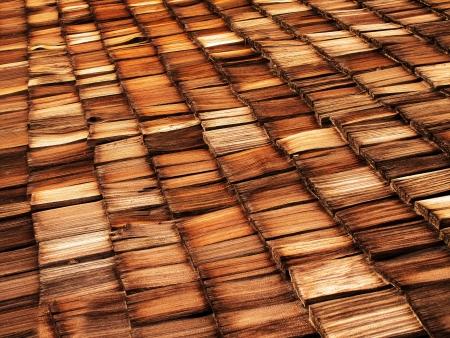cedar shakes: Vieja madera con techo de tejas textura y color marr�n