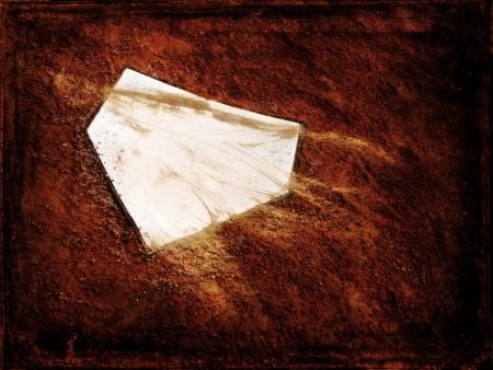 campo de beisbol: Inicio placa en el campo de b?isbol, con copia espacio Foto de archivo