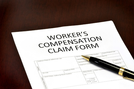 Worker compensation form for employment related injury or damage photo