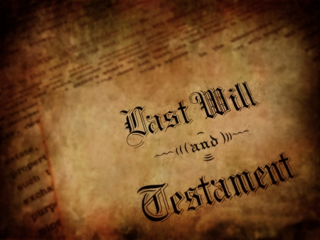 Envelope with Last Will and Testament 写真素材