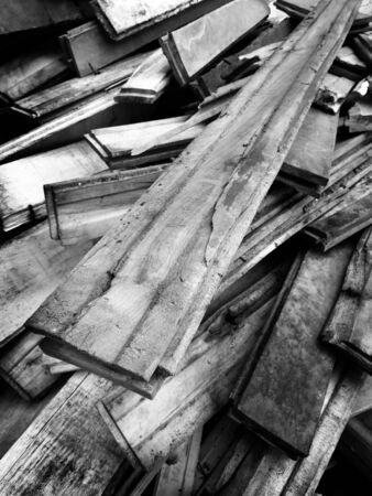 Detail pile of old wooden boards Stock Photo - 22929851