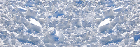 frigid: Crust of frozen pile with clumps of snow