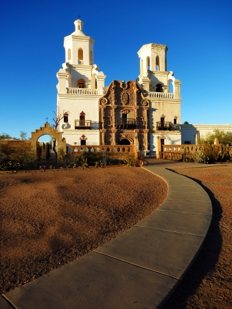 San Xavier mission in Tucson Arizona christian church with cross photo