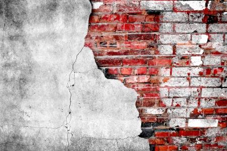 brick: Detail shot of an old brick wall Stock Photo