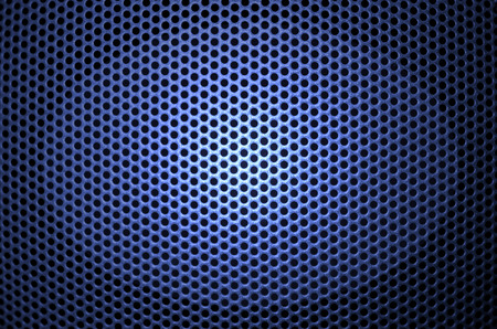 perforated: Closeup of speaker with detail of perforations Stock Photo