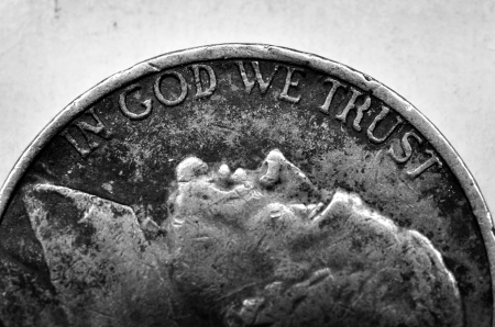 Coin of Silver American Money with words In God We Trust photo