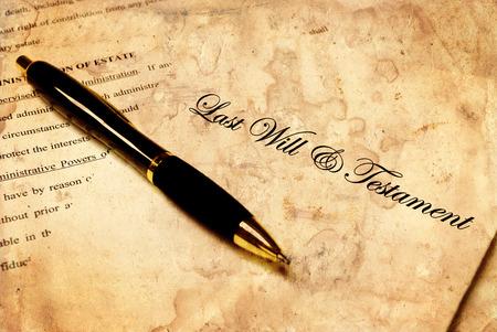 planung: Pen mit der Spitze eines Wird für Estate Planning Lizenzfreie Bilder