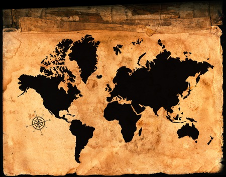 Antique Map Of The World On Parchment Paper Stock Photo Picture - Parchment paper map of us
