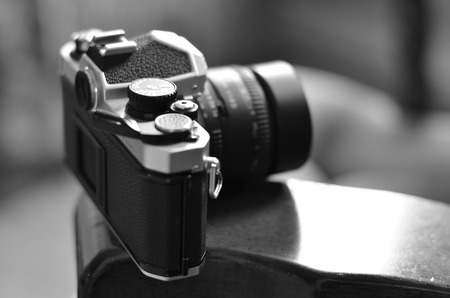 strap: Old camera and lens