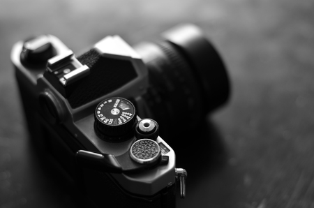 camera lens: Old camera and lens for photography art