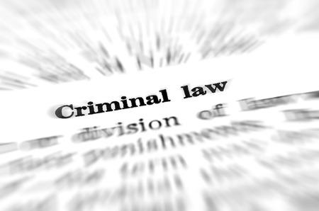 delincuencia: Definici�n del derecho penal en el diccionario Foto de archivo