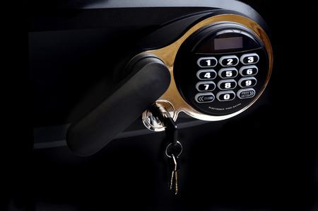 teclado numérico: Detalle de una de las teclas del teclado de seguridad y manejar la seguridad electrónica