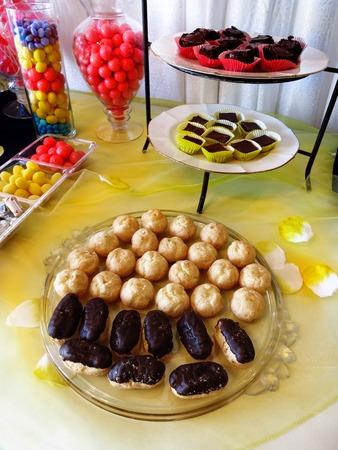 Detail of trays of party treats for enjoying celebration photo