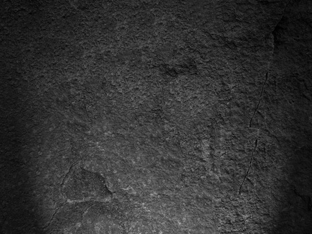 Detail of black rock texture and roughness