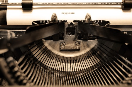 standard steel: Closeup of old typewriter letters and keys for typing on documents business