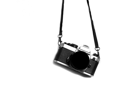 straps: Old camera and lens for photography art