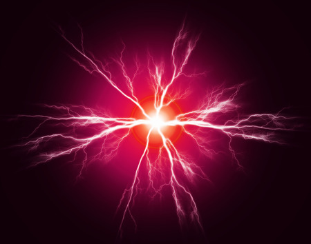 Explosion of pure power and electricity in the dark