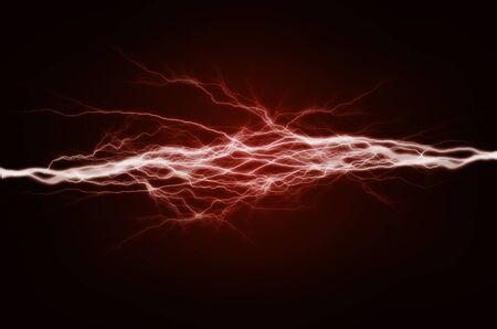 electricity background: Pure energy and electricity with blue background