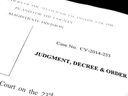spousal: Detail of legal papers Judgment Decree and Order
