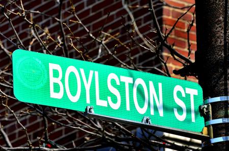 bombings: Boylston Street Sign site of 2013 Boston Bombings
