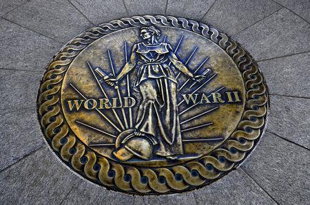 World War II war monument in DC  for fallen soldiers photo
