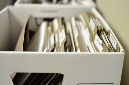 files: Office box full of files for organization school work legal