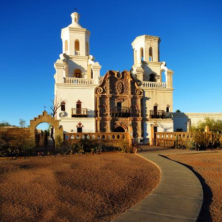 San Xavier mission in Tucson Arizona christian church with cross photo