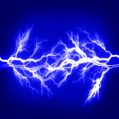 lightning bolt: Pure energy and electricity with blue background symbolizing power