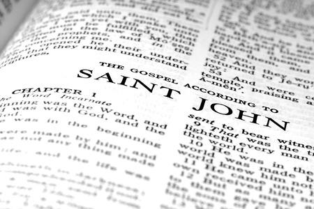 Detail closeup of New Testament Scripture quote Gospel of St. John