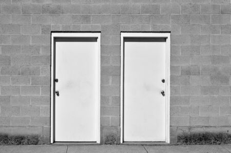 doorstep: View of two doors representing choices we make in life