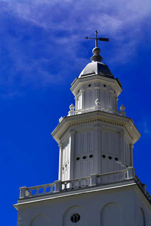 lds: Detail of St George Utah LDS Mormon Temple in early morning light Stock Photo