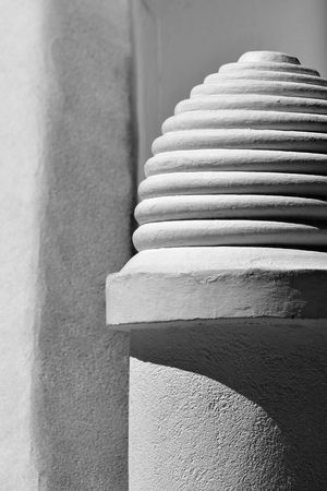 architectural designs: Detail of architectural designs on old building architecture Stock Photo