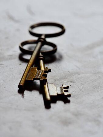 security symbol: Keys old on background for security symbol