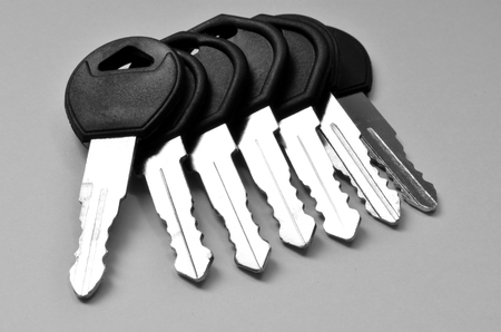 car keys: Close up of several keys for cars or house in a pile Stock Photo