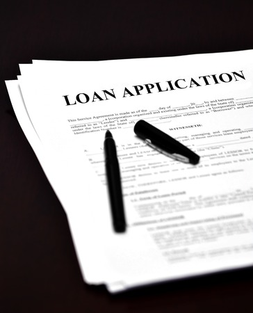 mortage: Loan Application for Financing and Money Stock Photo