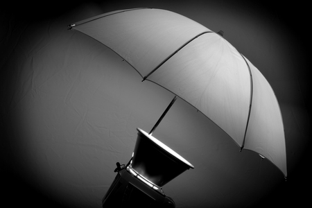 flashes: Studio strobe with umbrella for portraits and photographs