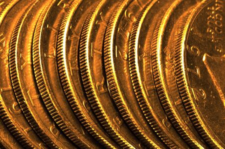 argent: Gold Coins Stacked Representing Wealth and Riches