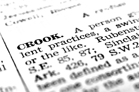crook: Definition of crook defined in dictionary