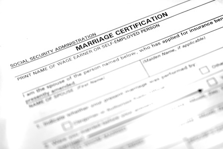 legally: Marriage certificate form application to be married legally
